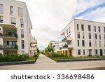 modern residential buildings... | Shutterstock . vector #336698486