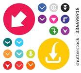 down arrow download icon set.... | Shutterstock .eps vector #336698918
