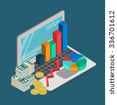 flat 3d isometric finance... | Shutterstock .eps vector #336701612