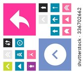 back arrow previous icon set....