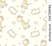 seamless pattern with cute... | Shutterstock .eps vector #336708986