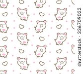 seamless pattern with cute... | Shutterstock .eps vector #336709022