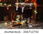 traditional winter mulled wine...   Shutterstock . vector #336712742