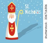 cute greeting card with saint... | Shutterstock .eps vector #336716306