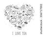 tea time poster concept. tea... | Shutterstock .eps vector #336717002
