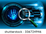 magnifying glass scanning and... | Shutterstock .eps vector #336724946