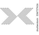 lines design . vector arrow... | Shutterstock .eps vector #336727616