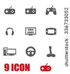 vector grey video games icon... | Shutterstock .eps vector #336733052