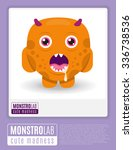 monstrolab. cute madness.... | Shutterstock .eps vector #336738536