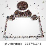 large and diverse group of... | Shutterstock . vector #336741146