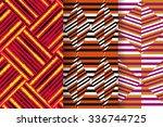 set of 3 abstract patterns.... | Shutterstock .eps vector #336744725