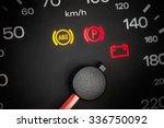 abs light. car dashboard in... | Shutterstock . vector #336750092