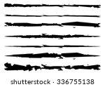 grungy  textured brush strokes  ... | Shutterstock .eps vector #336755138