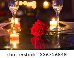 romantic dinner setting.  | Shutterstock . vector #336756848