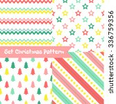 set of seamless christmas... | Shutterstock .eps vector #336759356