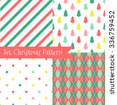 set of seamless christmas... | Shutterstock .eps vector #336759452