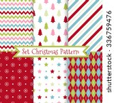 set of seamless christmas... | Shutterstock .eps vector #336759476