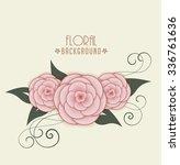 vector floral background ... | Shutterstock .eps vector #336761636
