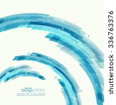abstract background with blue... | Shutterstock .eps vector #336763376