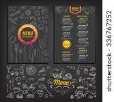 vector restaurant brochure ... | Shutterstock .eps vector #336767252