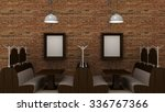 empty picture frames in classic ... | Shutterstock . vector #336767366