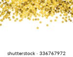 Foiled Gold Stars. Frame With...