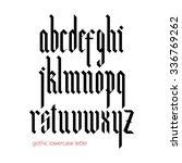 blackletter modern gothic font. ... | Shutterstock .eps vector #336769262