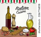 italian cuisine ingredients | Shutterstock .eps vector #336776858