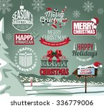 holiday collection of labels ... | Shutterstock .eps vector #336779006