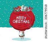 Santa Bearing The Weight Of The ...