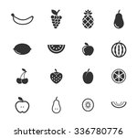 fruits simply symbols for web... | Shutterstock .eps vector #336780776