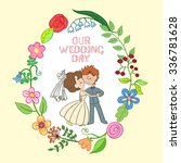 hand drawn on the wedding... | Shutterstock .eps vector #336781628