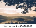 Silhouette Of Trees Along The...