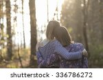 view from behind of two... | Shutterstock . vector #336786272