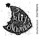 black and white doodle... | Shutterstock .eps vector #336788696