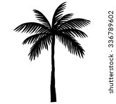 silhouette of palm trees | Shutterstock .eps vector #336789602
