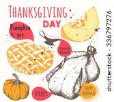 thanksgiving day. vector... | Shutterstock .eps vector #336797276