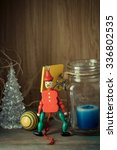 Wooden Toy Soldier In Red...