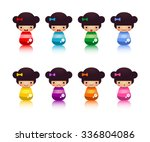 set of japanese kokeshi dolls | Shutterstock .eps vector #336804086
