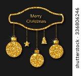 illustration merry christmas... | Shutterstock .eps vector #336806246