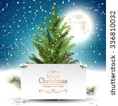 christmas greeting card with... | Shutterstock .eps vector #336810032