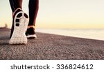 runner man feet running on road ... | Shutterstock . vector #336824612
