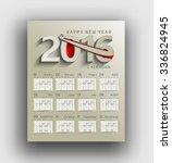 happy new year 2016 calendar  ... | Shutterstock .eps vector #336824945