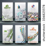 collection of roll up banner... | Shutterstock .eps vector #336825578