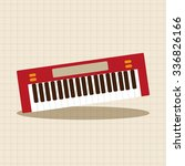 music keyboard theme elements... | Shutterstock .eps vector #336826166