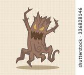 bizarre monster tree theme... | Shutterstock .eps vector #336828146