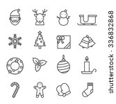christmas icons set black and... | Shutterstock .eps vector #336832868