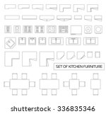 set of kitchen furniture  top...   Shutterstock .eps vector #336835346