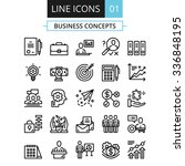 thin line icons set. flat... | Shutterstock . vector #336848195