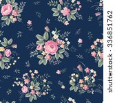 seamless floral pattern with... | Shutterstock .eps vector #336851762